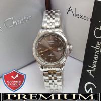 Jam Tangan Wanita Alexandre Christie AC 8402 Silver Black Original