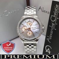 Jam Tangan Wanita Alexandre Christie AC 2598 Silver Blue Original
