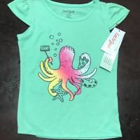 Kaos anak perempuan 4-5 tahun brand catnjack kaos santai sisa eksport