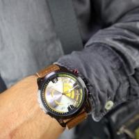 Jam Tangan Pria Strap Kulit Tiger Watch Free Box Desain Unik Kasual
