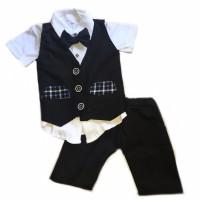Setelan vest baju anak rompi pesta 1 2 3 4 tahun cowok murah bayi lucu