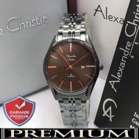 Jam Tangan Wanita Alexandre Christie AC 8588 Fullblack Original