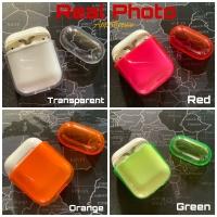 Apple AirPods Transparent Case Cover Candy Color Hard Case Gen 1 2