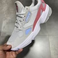 Sepatu adidas falcon white pink women original