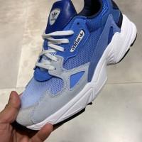 Sepatu adidas falcon blue women original