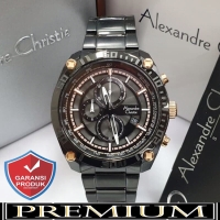 Jam Tangan Pria Alexandre Christie AC 6483 Black Original