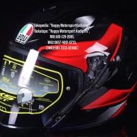 Helm halfface K5 JET dual visor AGV Italy Rocket black red glos M L XL
