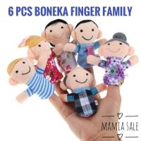 6 pcs boneka jari keluarga finger family puppet mainan edukasi bayi