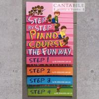 Paket Buku Step by Step Piano Course Step 1-4