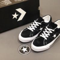 Sepatu converse one star low black white premium original