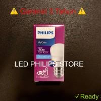 Lampu Bohlam LED Philips 3 Watt Putih/Cool Daylight (3W 3 W 3Watt)