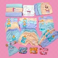 PAKET LIBBY KOMPLIT 0-3 M - Baju / Bedong / Kaos / topi / Popok Bayi