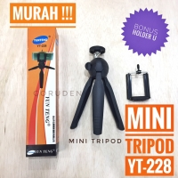 Mini Tripod YUNTENG YT-228 Bonus Holder U Plus Packing DSLR GoPro