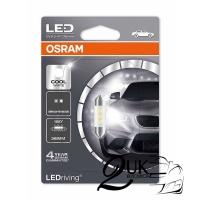 Lampu LED Festoon Cool White OSRAM 6436CW untuk Cabin / Plat