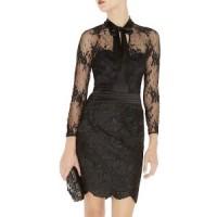 KAREN MILLEN Long Sleeve Lace Cocktail Dress