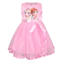 Dress Pesta Anak cewe frozen Tutu Lace Import Keren