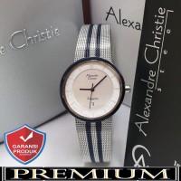 Jam Tangan Wanita Alexandre Christie AC 8334 Silver Blue Original
