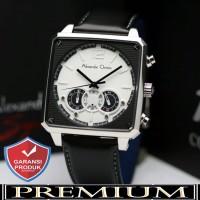 Jam Tangan Pria Alexandre Christie AC 6484 Silver White Original