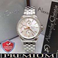 Jam Tangan Wanita Alexandre Christie AC 2598 Silver Original