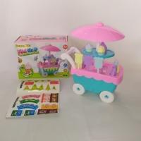 Mainan anak gerobak es krim musik ice cream cart mini shop candy sweet