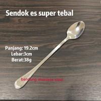 Sendok es panjang stainless super tebal ice spoon hotel teh