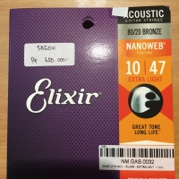 Senar Akustik Gitar Elixir 11000 Nanoweb (10-47) Murah Asli