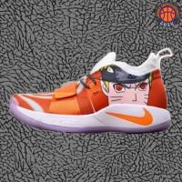Sepatu Basket Sneakers Nike PG 2.5 Paul George Naruto x Sasuke Orange
