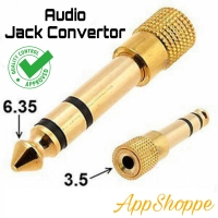 Convertor Audio Jack Konverter 6.35 6.5 to 3.5mm STEREO QC Approved