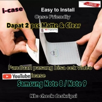 Anti Gores / Screen Protector Samsung note 8 / 9 Case Friendly Dapat 2