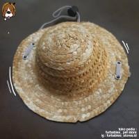 Topi Jerami Kostum Anjing Kucing Hewan Pet Costum Cosplay