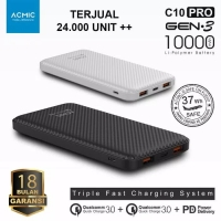 ACMIC C10PRO 10000MAH PowerBank Quick Charge 3.0 PD Power Delivery