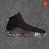 Sepatu Basket Sneakers Adidas Pro Bounce 2019 Black Multicolor Pria