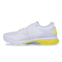 ASICS GEL-KAYANO 25 Womens Running White/Lemon Spark Original BNIB Leg
