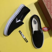 Sepatu Vans Slip On Slipon Classic DT Black White Hitam Premium