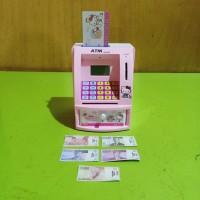 Mainan atm bank mainan celengan box pink VENTURO TOYS