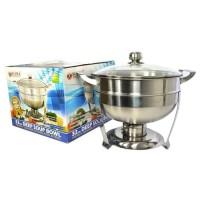 Supra Deep Soup Bowl Warmer Stove Pemanas Makanan Tutup Kaca 32cm