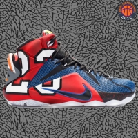 Sepatu Basket Sneakers Nike Lebron 12 What The Multicolor Pria Wanita