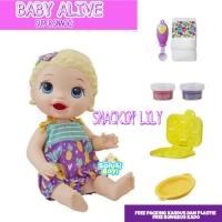 Boneka Baby Alive Snacking Lily Original