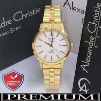 Jam Tangan Wanita Alexandre Christie AC 1007 Gold Original / alexander