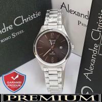 Jam Tangan Wanita Alexandre Christie AC 1009 Silver Black Original / a