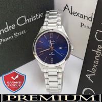 Jam Tangan Wanita Alexandre Christie AC 1009 Silver Blue Original / al