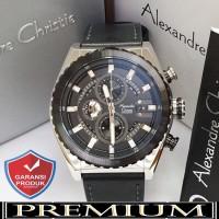 Jam Tangan Pria Alexandre Christie AC 6521 Silver Black Original / ale