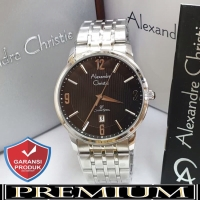 Jam Tangan Pria Alexandre Christie AC 8327 Silver Black Original