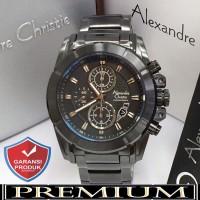 Jam Tangan Pria Alexandre Christie AC 6226 Fullblack Original
