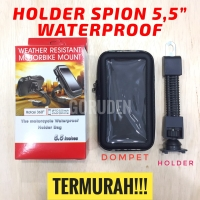 "Holder HP Motor Spion 5,5"" Inci Waterproof Anti Air Mount"