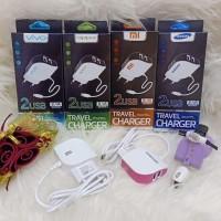 Tc, Travel Charger, Cassan, Charging, Charger Brand Daun 2 Usb