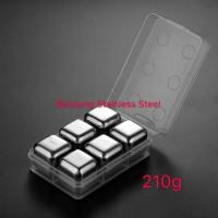 6 pcs Ice Cube Stainless steel sus 304 Food grade Es batu Stainles