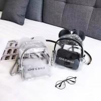 Transparant Mickey Backpack Mini Tas Ransel Best Seller Bag 3111