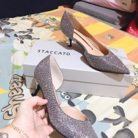 heels staccato silver glitter size 36
