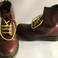 Preloved Dr Martens Doc Mart Cherry Red 1460 8 laces
